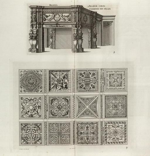 Bureau Renaissance au château de Madrid