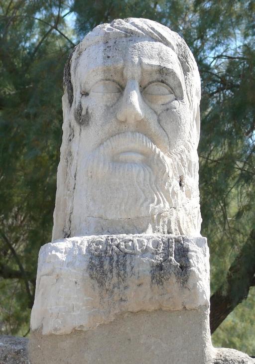 Buste d'Hérodote dans le château de Bodrum
