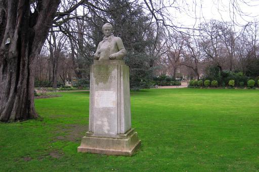 Buste de Baudelaire au Jardin du Luxembourg