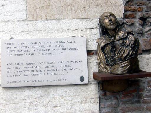 Buste de Shakespeare à Vérone
