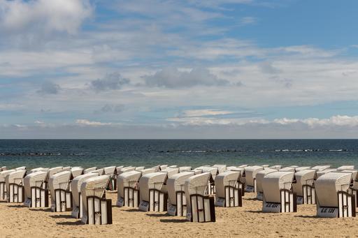 Cabines de bain sur la plage allemande de Sellin