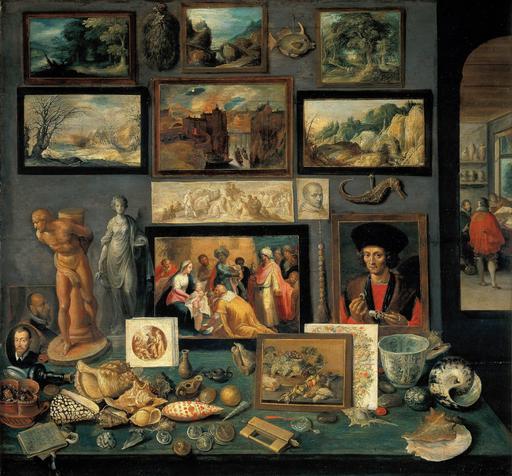 Cabinet de curiosités au XVIIème siècle