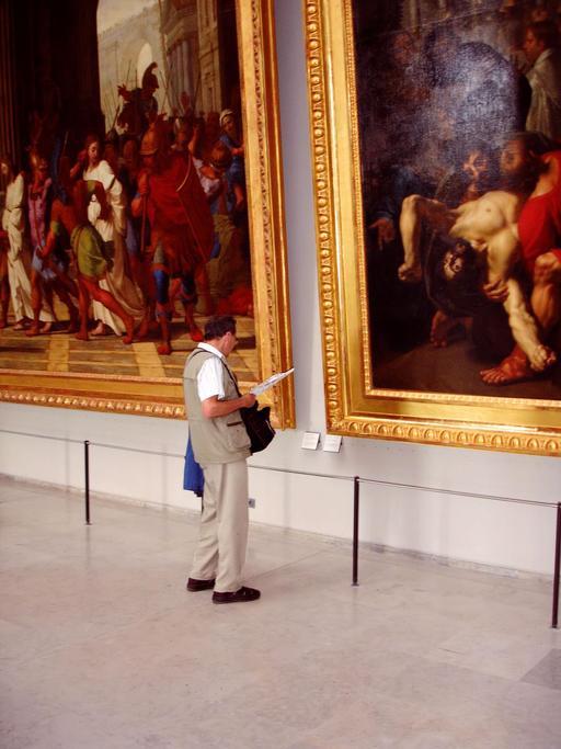 Cadres de tableaux du Louvre