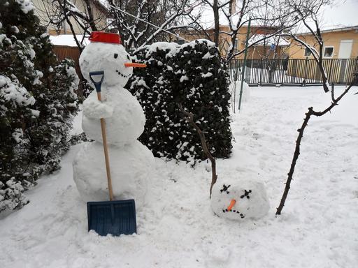 Calvin et Hobbes en hiver