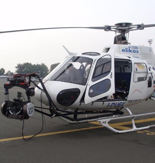 Caméra sur l'Eurocopter