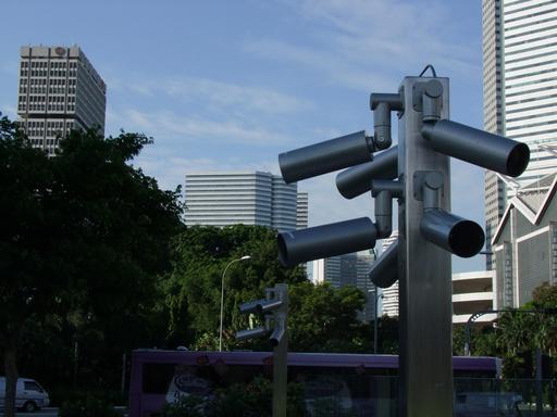 Caméras de surveillance à Singapour