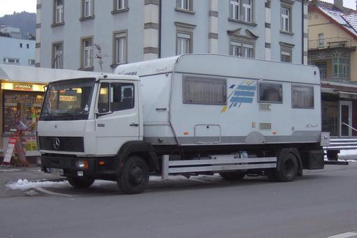 Camion-caravane en Suisse