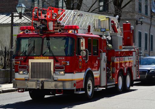 Camion de pompier de la ville de Québec