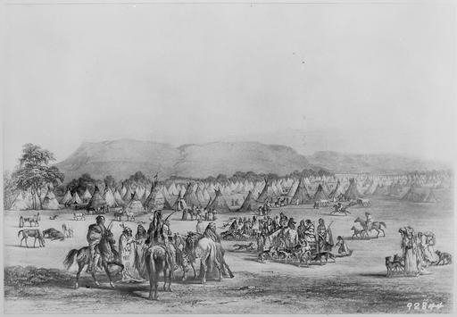Campement indien en 1833