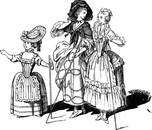 Cannes féminines au dix-huitième siècle