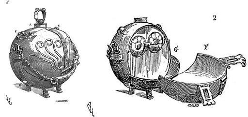 Cantine portable du XVIIème siècle