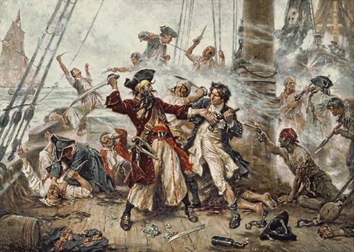 Capture du pirate Barbe-Noire