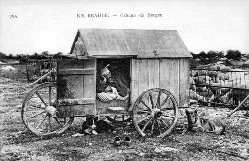 Caravane de berger d'antan