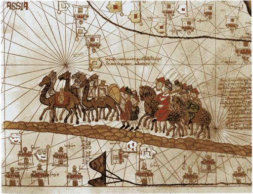 Caravane de Marco Polo en 1375