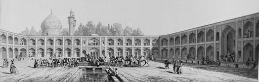 Caravansérail de la mère du Shah Sultan Hussein en 1840