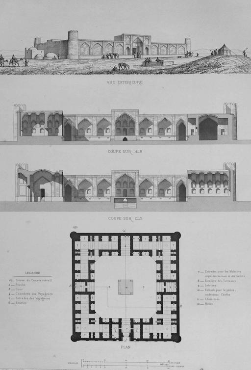 Caravansérail de Passencan en 1840