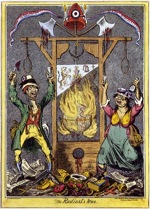 Caricature anglaise de la Révolution française