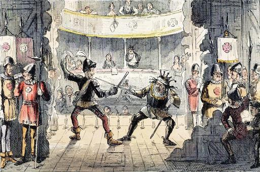 Caricature de bataille anglaise