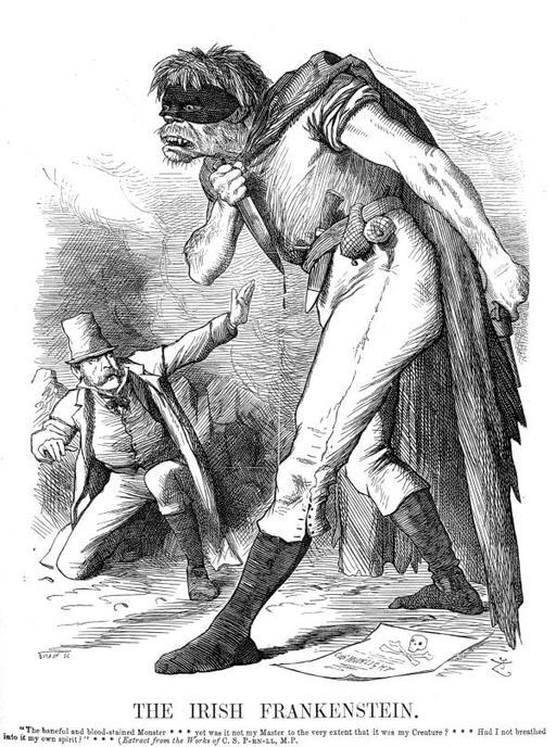 Caricature de Frankenstein sanguinaire