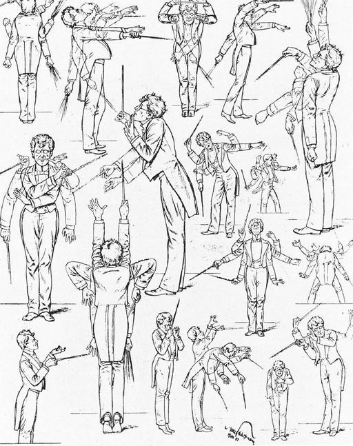 Caricature de Gustave Mahler en 1901