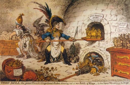 Caricature de Napoléon faiseur de rois
