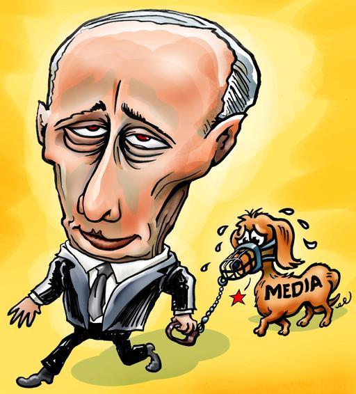 Caricature du président Poutine