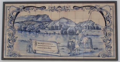 Carreau de faïence de Don Quichotte à Álora en Andalousie