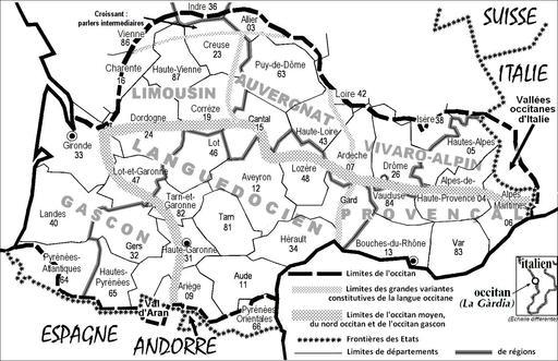 Carte d'Occitanie
