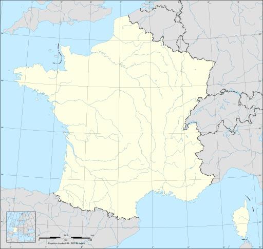 Carte de France métropolitaine vierge, avec cours d'eau