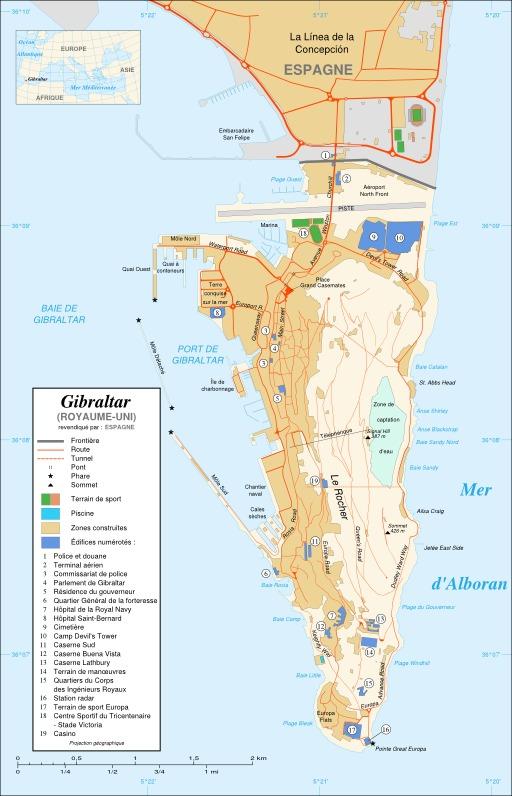Carte de Gibraltar