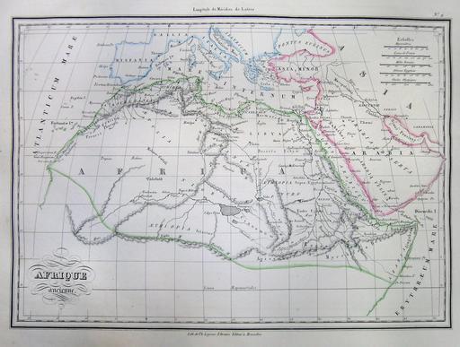 Carte de l'Afrique du Nord ancienne en 1837