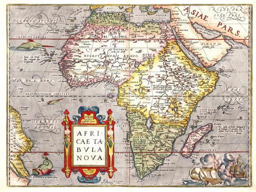 Carte de l'Afrique en 1570
