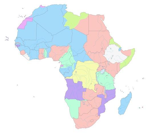 Carte de l'Afrique en 1913