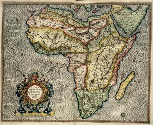 Carte de l'Afrique par Mercator en 1595