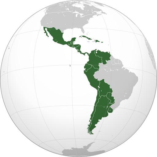 Carte de l'Amérique hispanique