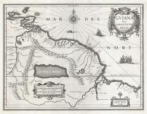 Carte de l'Eldorado en 1635