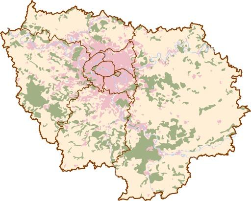 Carte de l'île de France
