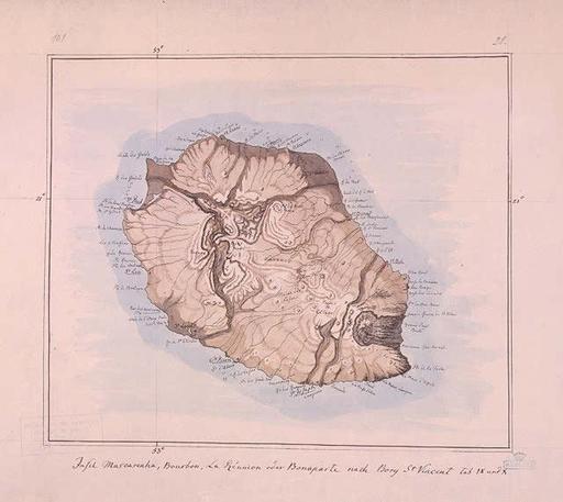 Carte de l'île de La Réunion en