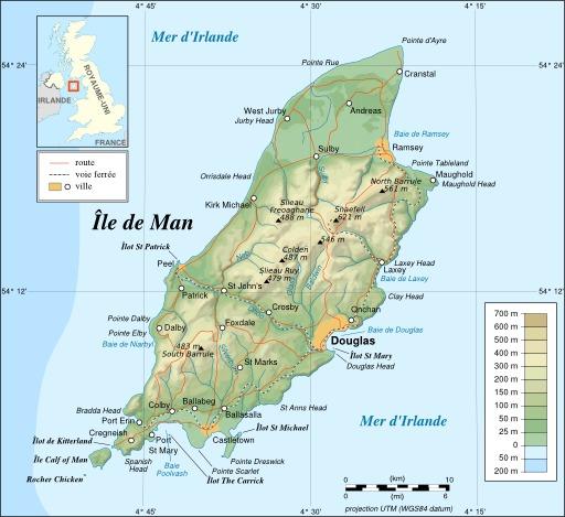 Carte de l'île de Man