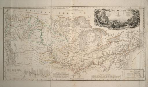 Carte de l'itinéraire de Maximilien de Wield en 1832-34