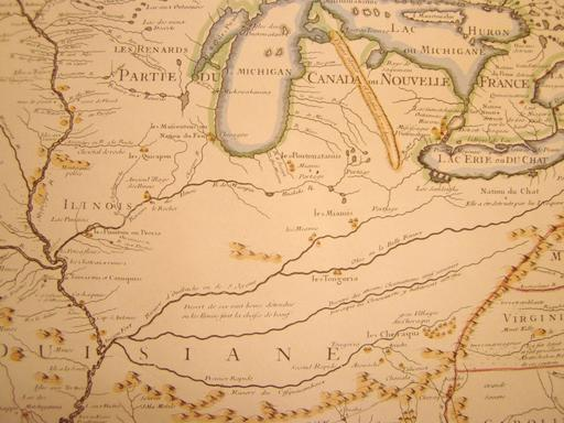 Carte de la Louisiane en 1718