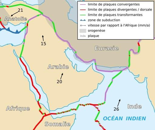 Carte de la plaque arabique