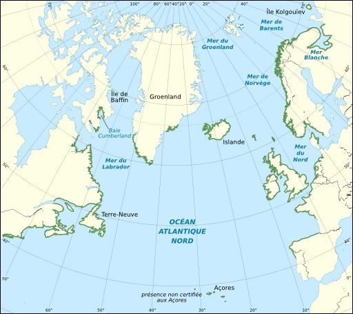 Carte de répartition du goémon noir
