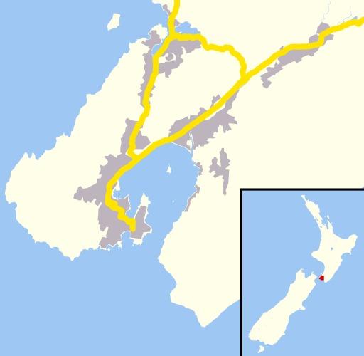 Carte de Wellington en Nouvelle-Zélande