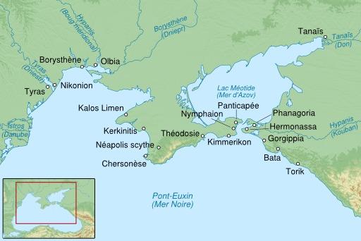 Carte des anciennes colonies grecques