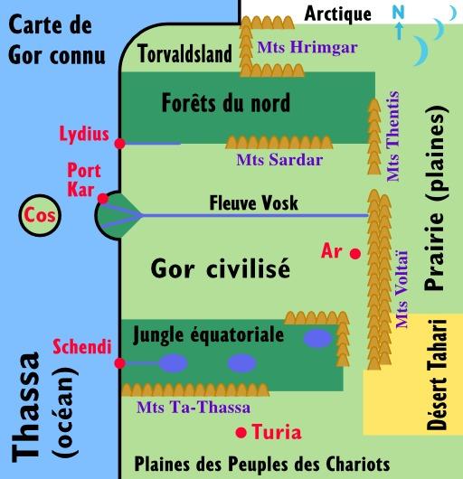 Carte des Chroniques de Gor