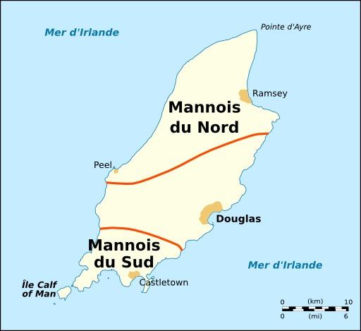 Carte des dialectes mannois