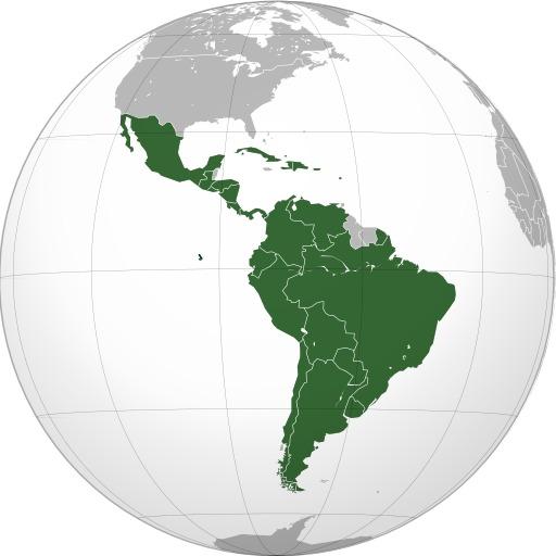 Carte des pays d'Amérique latine
