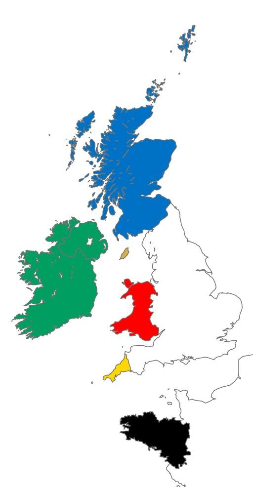 Carte des régions celtiques