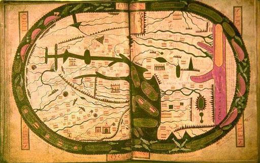 Carte du Beatus de Saint Sever